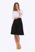 Чёрная расклешенная юбка Emka Fashion 247/milisa