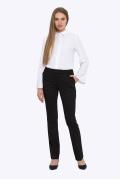 Чёрные прямые женские брюки Emka D-015/milisa