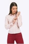 Строгая офисная блузка из розового хлопка Emka B2264/ragazza