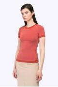 Трикотажная блуза кораллового цвета Emka B2340/elita