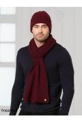 Мужская шапка бордового цвета Landre Берлин