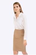 Классическая юбка-карандаш бежевого цвета Emka S629/edita