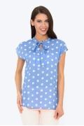 Летняя голубая блузка в цветочек Emka b 2230/itotiya