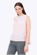 Лёгкий летний топ розового цвета Emka b 2138/vizantiya