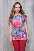 Женская футболка с акварельными цветами Issi 171116