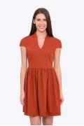 Коктейльное платье террако-тового цвета Emka PL-504/azenta-