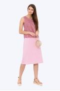 Розовая летняя юбка из вискозы Emka 705/gabbi