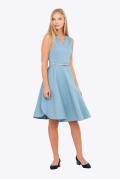 Летнее платье с V-образным вырезом Emka PL-603/cosmopolitan