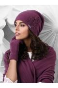 Женская шапка сливового цвета Kamea Jassy