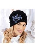 Женская шапка с бабочками из страз Willi Molina (несколько цветов)
