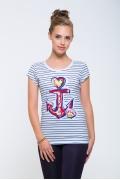 Женская блузка морской тематики Issi 171100