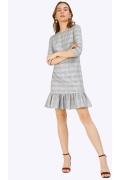 Платье в клетку с рукавом три четверти Emka PL852/avenue