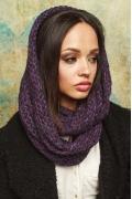 Фиолетовый снуд-восьмерка женский Gulyann Baska
