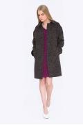 Женское пальто свободного кроя Emka R-018/brownie