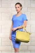Небесно-голубое льняное платье Issi 171533