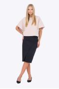Тёмно-синяя юбка с запАхом Emka Fashion 676/modesta
