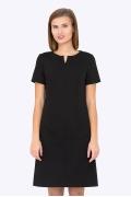 Чёрное платье с коротким рукавом Emka Fashion PL-591/milisa