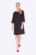 Осеннее платье с рукавом три четверти Emka PL519/wineberry
