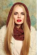 Терракотовый снуд-восьмерка женский Gulyann Baska