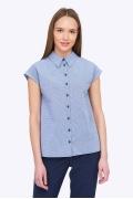 Женская летняя рубашка-безрукавка Emka B2229/dezira