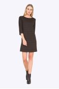 Коричневое платье в черный горох Emka PL579/java