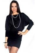 Чёрное платье летучая мышь | DSP-13-4T