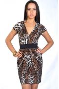Леопардовое платье-тюльпан | DSP-22-9t