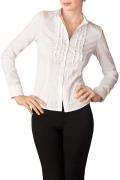 Белая классическая блузка