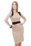 Бежевое платье-футляр | DSP-28-24t