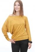 Асимметричный джемпер модного золотого цвета | DSB-11-20t