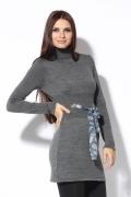Короткое платье серого цвета | 1155/1