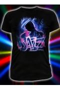 Мужская футболка Джаз (Светится в темноте и ультрафиолете)