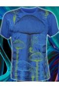 Мужская футболка с эффектом винтаж Mushrooms