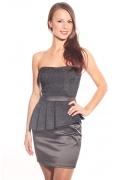 Платье-бюстье с баской | DSP-43-5