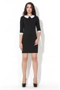 Чёрно-белое платье Donna Saggia | DSP-41-4t