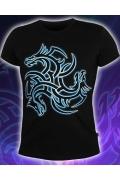 Клубная мужская футболка Тату дракон (Светится в темноте и ультрафиолете)