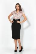 Комбинированное платье (Весна-лето 2012) | 1655/1