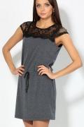 Короткое платье с черным кружевом | 1650