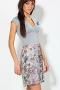 Модное комбинированное платье | 1657/1