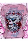 """Розовая женская футболка """"Rock N Roll"""""""