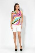 Яркая летняя блузка (весна-лето 2012) | 3600