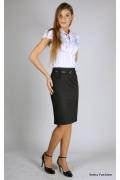 Недорогая черная юбка | 254-bella