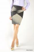 Контрастная черно-белая юбка | 234-amanda