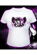 """Белая женская футболка """"Эмо"""""""