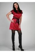 Короткое атласное платье | 0052