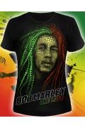 Женская футболка Bob Marley (светится в темноте)