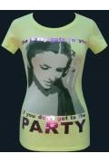 "Белая футболка для девушек ""Party"""