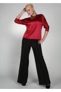 Ярко-красная атласная блузка Chertina&Durre | 9860