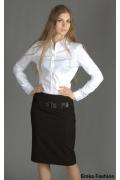 Стильная черная юбка Emka Fashion | 123-kosta