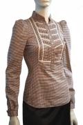 Женская блузка в мелкую клетку | Б614-984